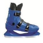 patin à glace bleu